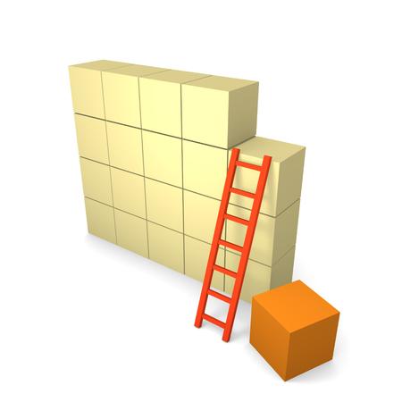 Concept of building. 3d render.
