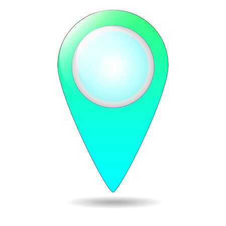 Map pin flat design style modern icon, pointer minimal vector symbol, marker sign