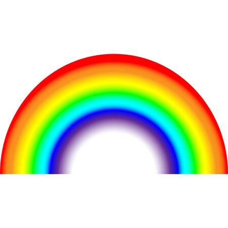 Rainbow on white background icon illustration