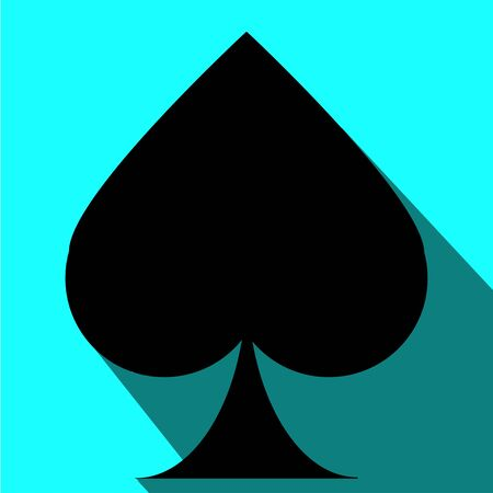 Playing card. Spade symbol. Vector art.