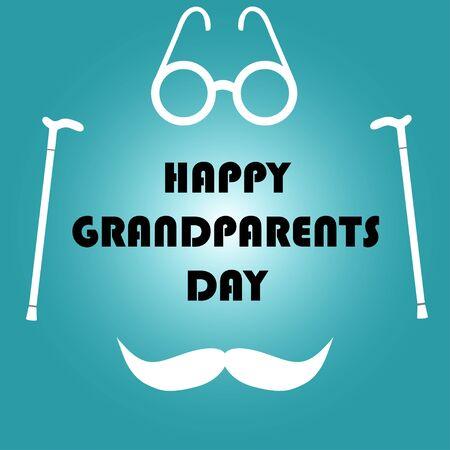 Happy Grandparents Day illustration Иллюстрация