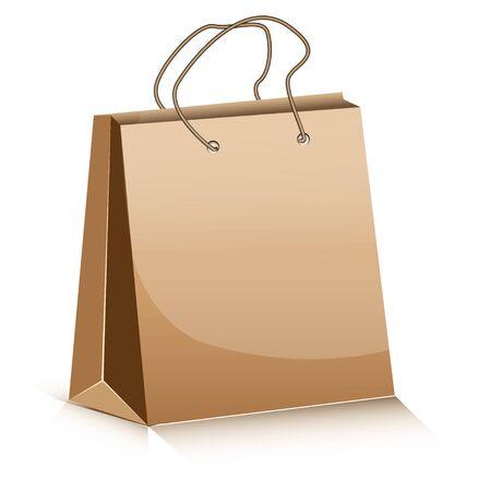 Paper package on white background Ilustração