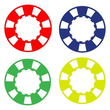 colorful casino poker chip illustration