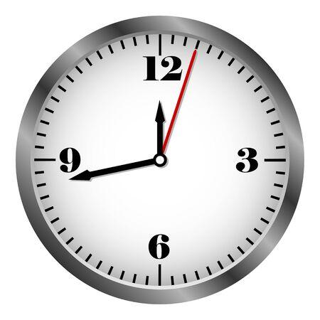 Metal clock icon vector 向量圖像