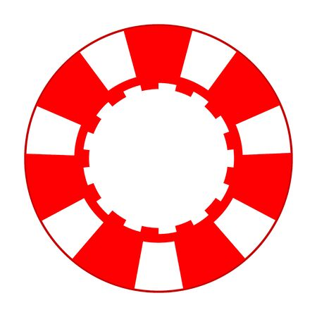 red and white casino chip illustration