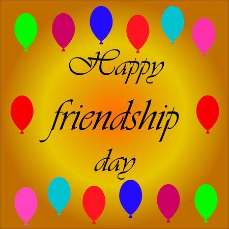 happy friendship day. Vector illustration
