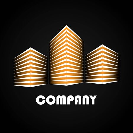 Buildings company icons vector