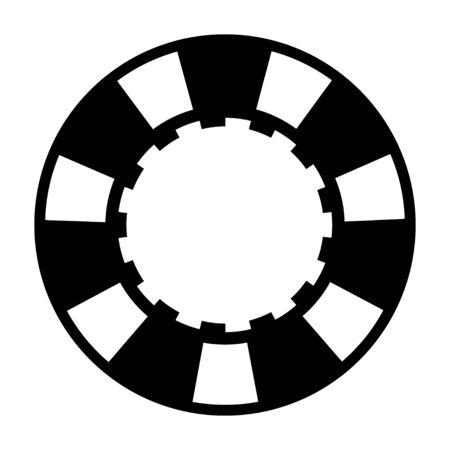 black casino poker chip illustration