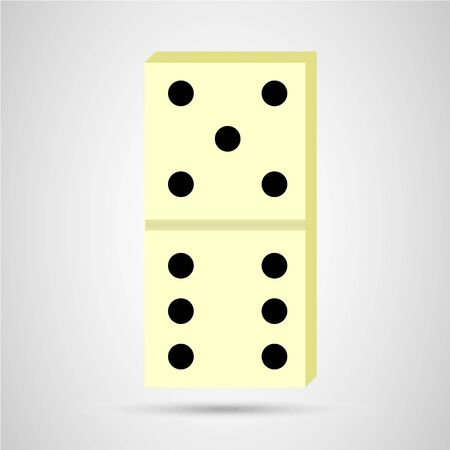 real domino icon on gray background