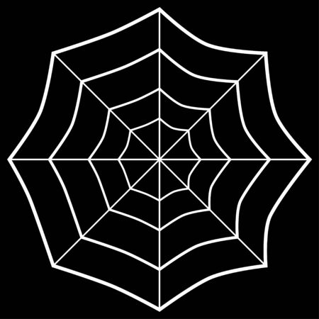 white spider web on black background