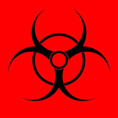 Biohazard sign. Warning radiation hazard Banco de Imagens - 132218824