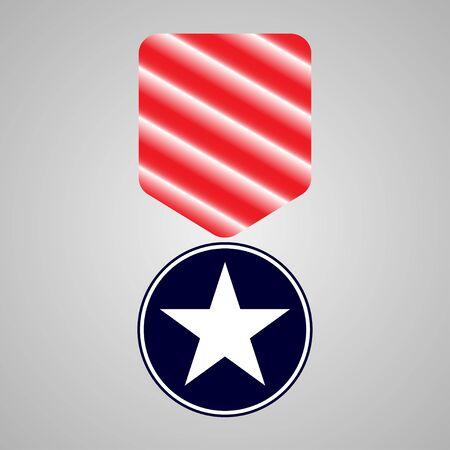 military medal. veterans day sign illustration Çizim
