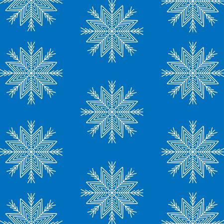 Schneeflocke Winter Hintergrund. Vektor Vektorgrafik
