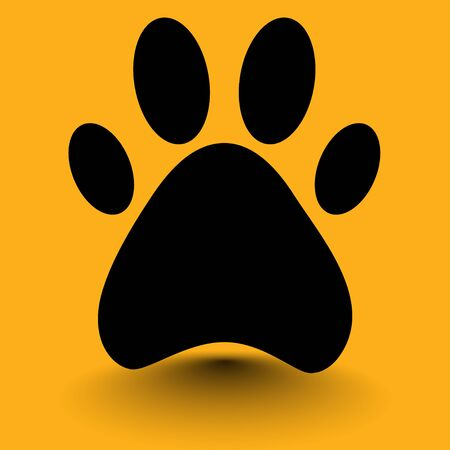 foot dog on a yellow background Illustration