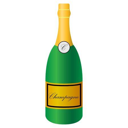 a bottle of champagne illustration Imagens - 132223206