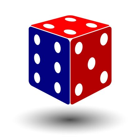 red-blue dice illustration
