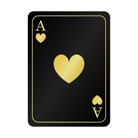 golden black ace hearts