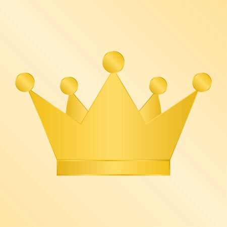 Golden Crown on gold background