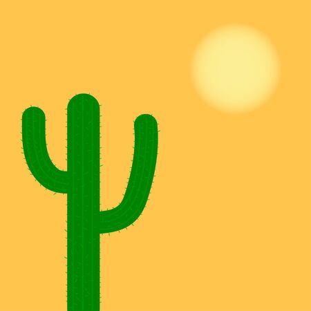 cactus in the desert 矢量图像