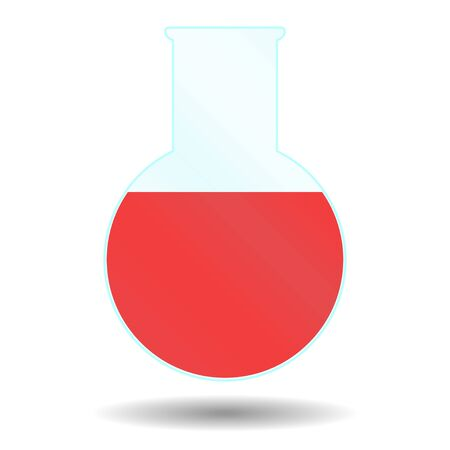 circle beaker with red liquid