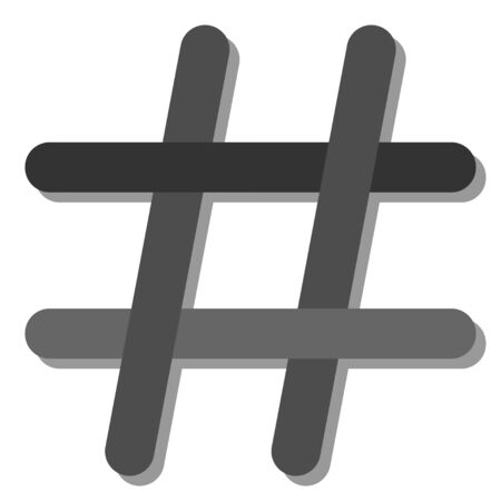Hashtags Icon with shadow