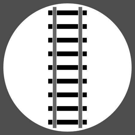 emblem rail way Banque d'images - 133117413