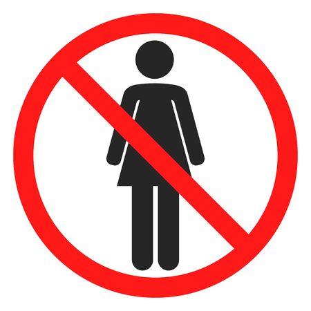 kein Frauenzeichen-Symbol Vektorgrafik