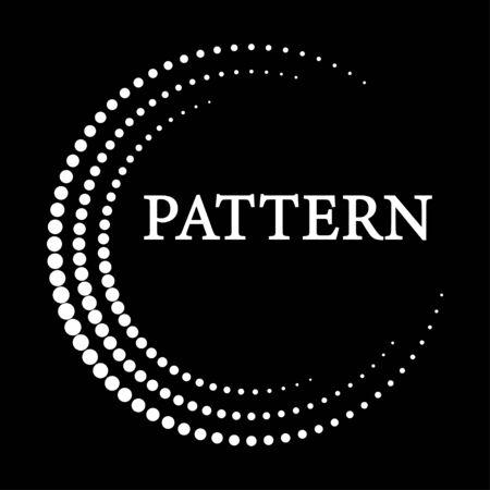 pattern white circles around the circle on the black background