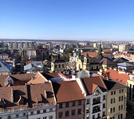 panorama of Ivano-Frankivsk Stockfoto