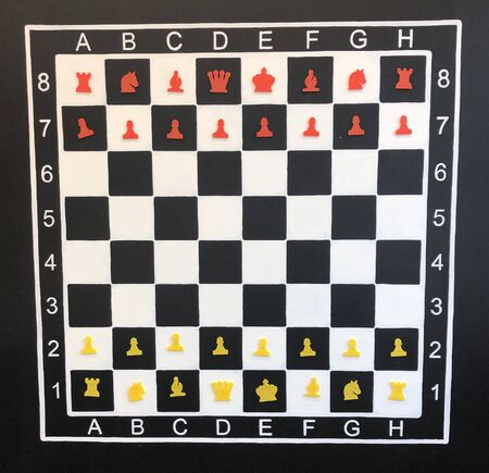 scheme Starting position chess red and white