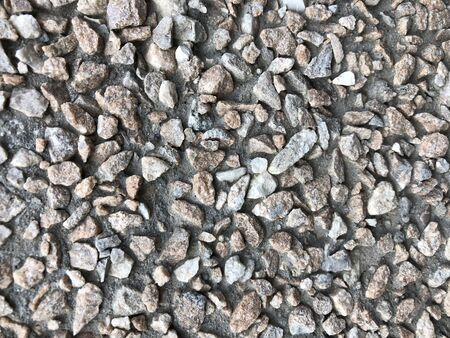 background pebble in cement background texture decoration Stockfoto