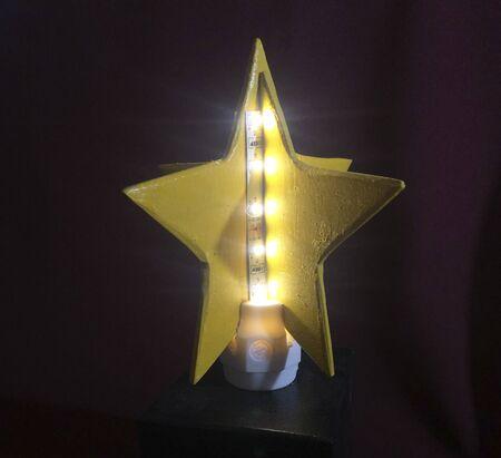 decorative retro star shaped lamp