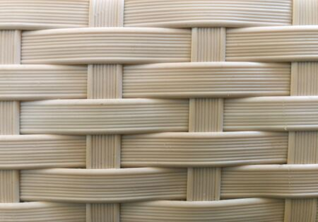 Close up white plastic mat as striped background texture pattern