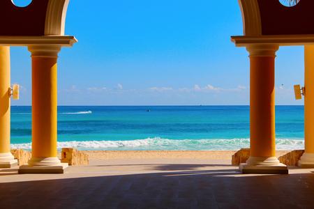 Caribbean Sea, sunny beach Paraiso, Mexico, Mayan Riviera