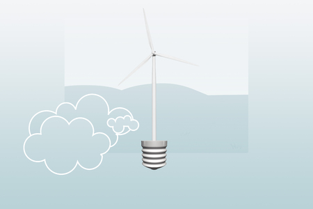 Wind power to generate electricity - an ecological concept Stok Fotoğraf