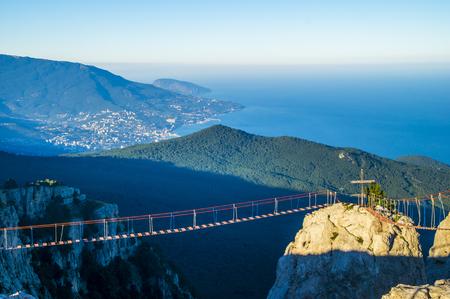 View of Yalta Crimea from Ai-Petri mountain peak