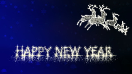 2015 Happy New Year on blue background photo