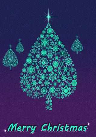 Merry Christmas tree photo