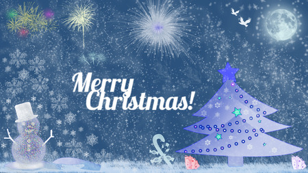 Merry Christmas - beautiful greetings card photo