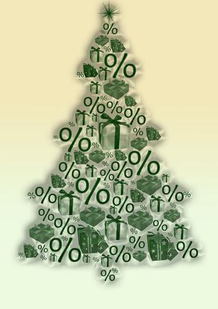 Christmas tree , discount photo
