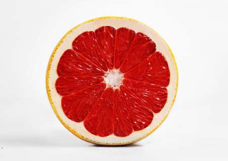 Fresh Red Grapefruits. Slice