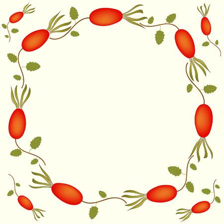 eglantine: Background with berries of wild rose