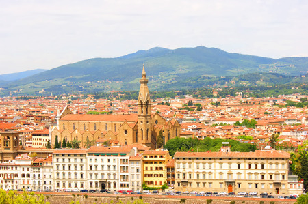 Italië Florence algemeen uitzicht op de stad Stockfoto - 32035156