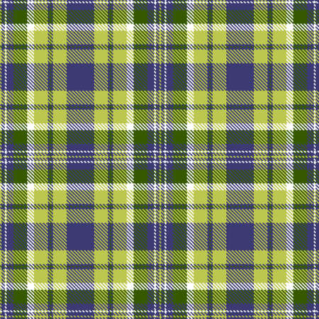 Tartan Cloth Pattern. Chequered plaid vector illustration. Seamless background of Scottish style great for wallpapers, textiles, decorations, festive wrappings. The white, blue, green, pea colors.