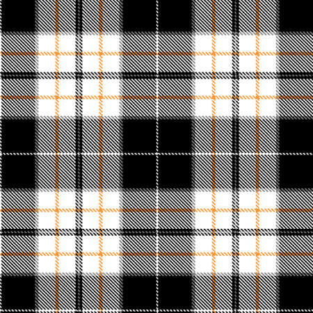 Tartan Cloth Pattern. Checkered plaid vector illustration. Seamless background of Scottish style great for wallpapers, textiles, decorations, wrappings. The black, white, and red colors