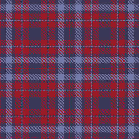 Tartan Cloth Pattern. Checkered plaid vector illustration. Seamless background of Scottish style great for wallpapers, textiles, decorations, wrappings. The violet, lilac, and red colors