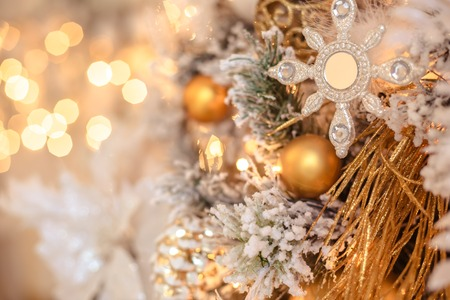 Christmas decorations in gold stylebackground