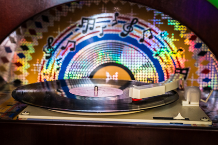 Old musical gramophone