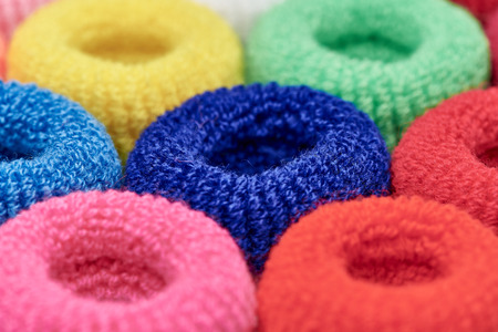 Bright multi-colored soft scrunchy close-up.