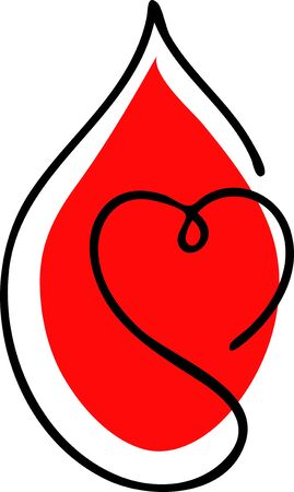 Vector abstract logo associated with blood donation